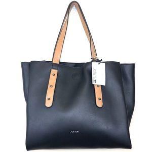 Anthropologie Joe's Black Alexa Zip Top Tote Bag